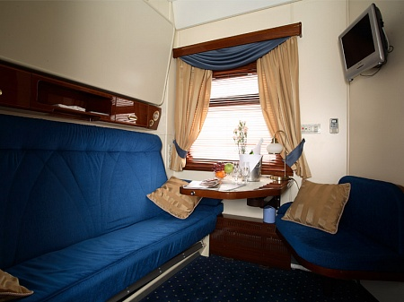 Gold class luxury carriage